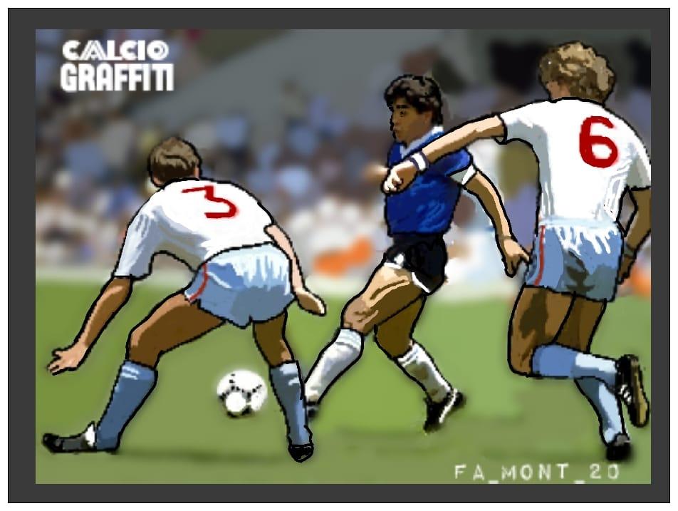 ARGENTINA INGHILTERRA 2-1 MONDIALI 1986 QUARTI DI FINALE