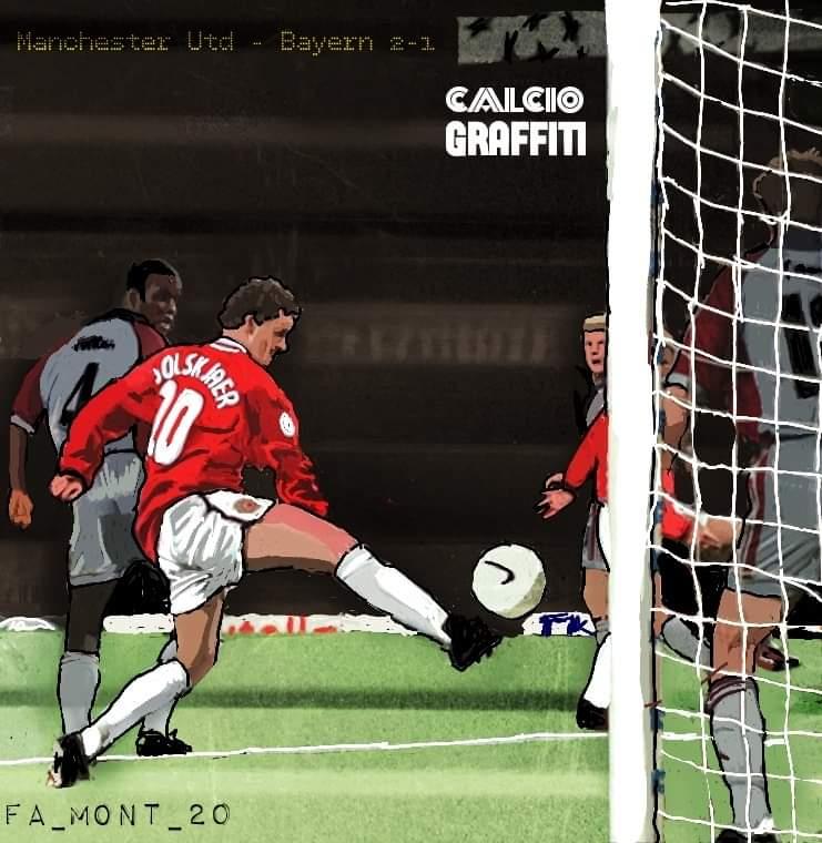 MANCHESTER UNITED-BAYERN MONACO 2-1 FINALE CHAMPIONS LEAGUE 1998-1999